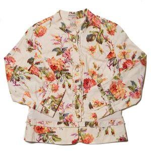 Elevenses Floral Jacket in Beige